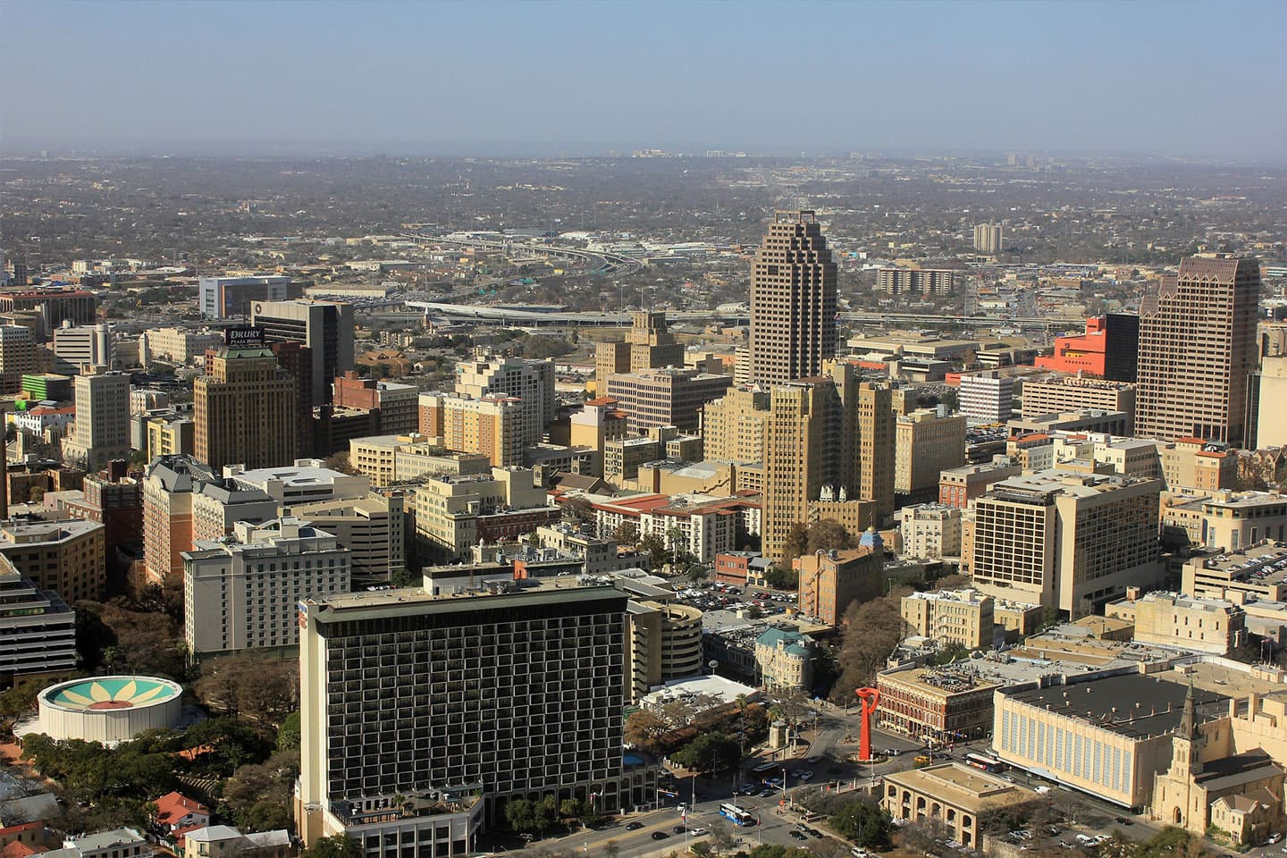 aerial view of san antonio