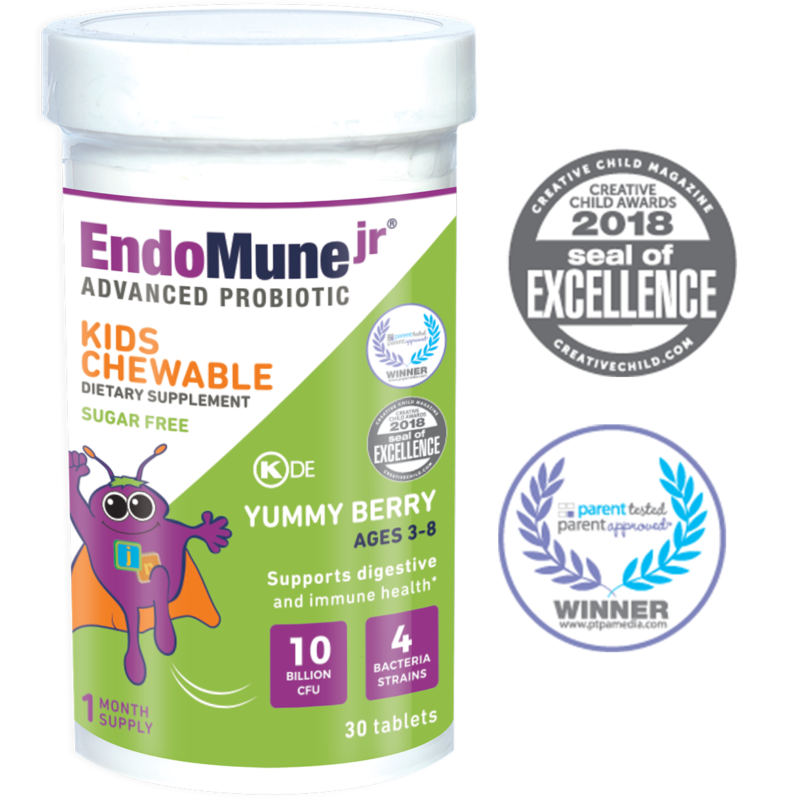 EndoMune Kids Probiotics Chewable Bottle