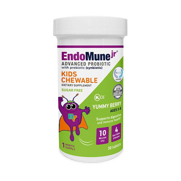 EndoMune Jr. Chewable Probiotic Bottle