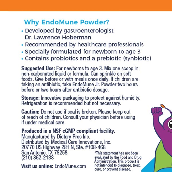 EndoMune powder label