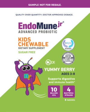 Endomune Kids Chewable Sample front cover