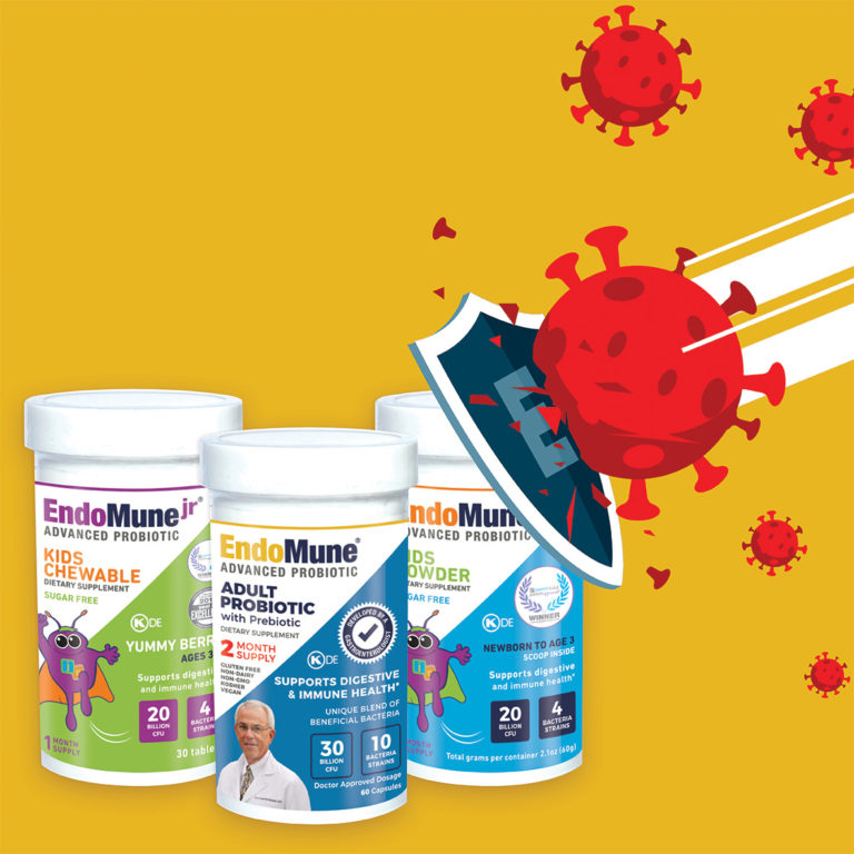 3 Probiotic bottles defending against germs