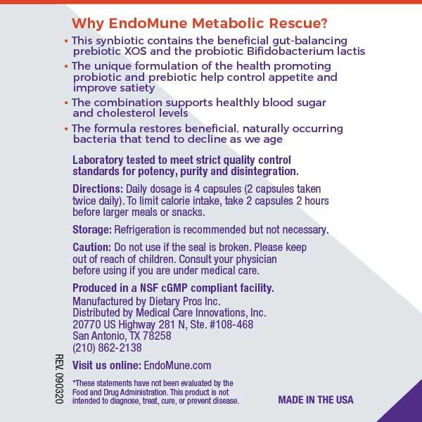EndoMune Metabolic Rescue Usage Label