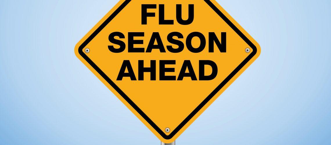 Flu Season Ahead Sign