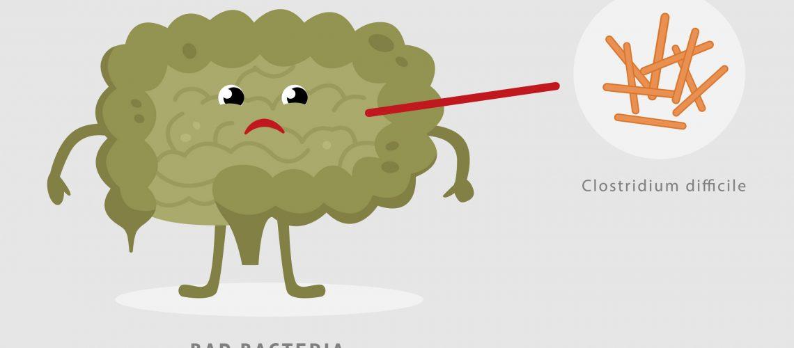 illustration of C Diff bacteria